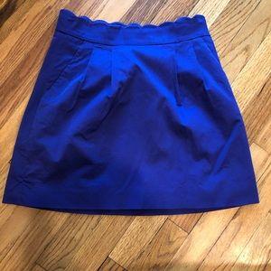 Jcrew scalloped mini skirt